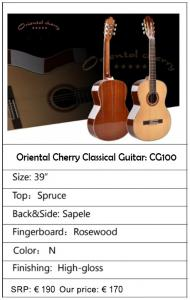 Oriental Cherry classical guitar CG110 - €170 (from €190)